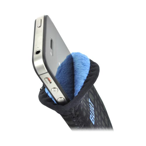 "Original BUILT (Up to 4.5"" like iPhone 4, iPhone 4S) Neoprene Sleeve Pocket for Smartphones, A-PS-GGD - Black/ Gray Checker"