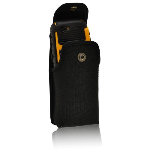 Black Turtleback Vertical Ballistic Nylon Pouch w/ Heavy Duty Steel Swivel Belt Clip for Hotspot/ MiFi Devices
