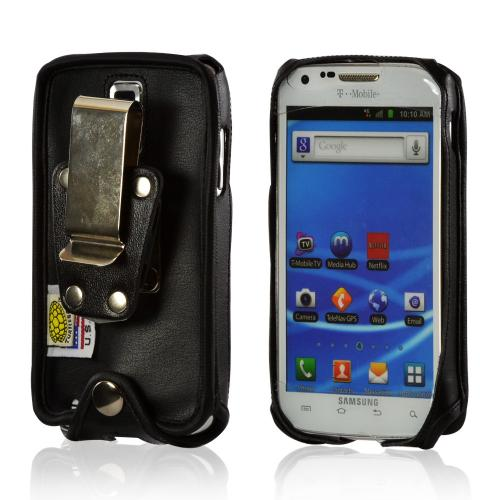 Black Turtleback Ballistic Nylon Pouch w/ Heavy Duty Steel Swivel Belt Clip for Samsung Epic 4G Touch