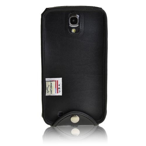 Black Turtleback Genuine Leather Pouch for Samsung Galaxy Mega 6.3