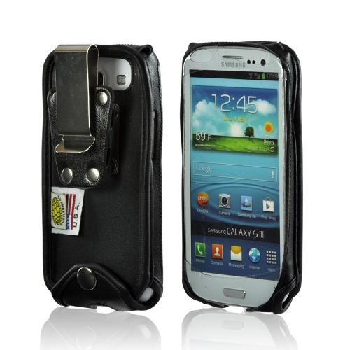 Samsung Turtleback Black Leather Pouch W/ Heavy Duty Stee...