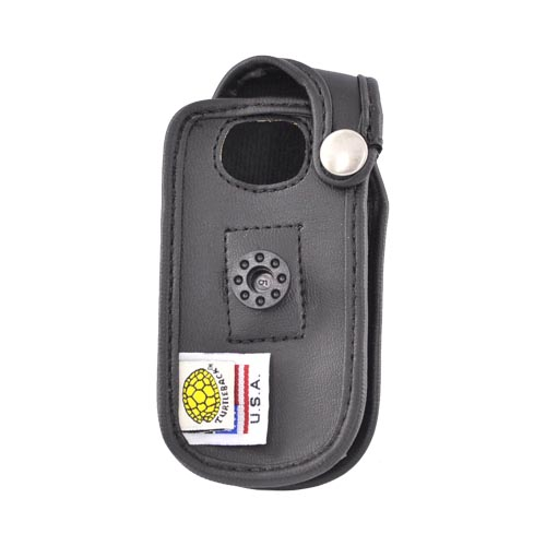 Original Turtleback Premium Kyocera Sanyo Taho Leather Case w/ Swivel Clip, A-SANTaho - Black