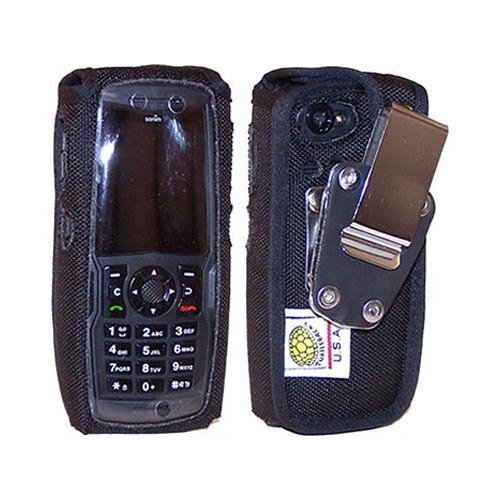 Sonim Original TurtleBack Premium C Spire Sonim XP 3400 Armor Heavy Duty Pouch w/ Steel Swivel Belt Clip - Black Signal Boosters
