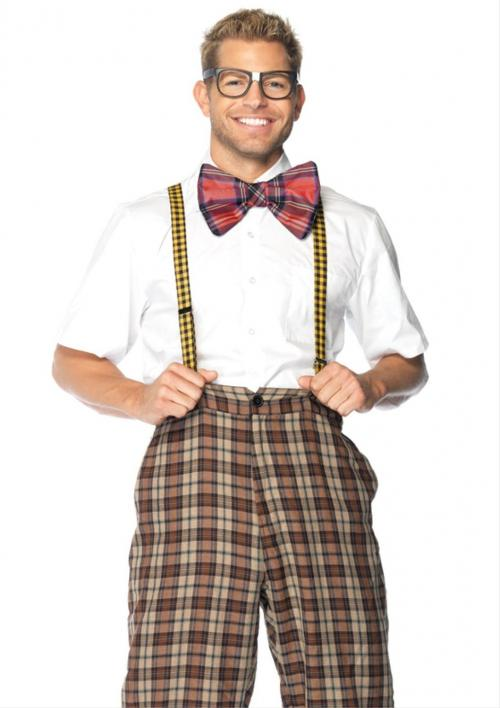 LegAvenue Halloween Costume Nerd Kit, Suspenders, Bow Tie, And Glasses (3 PC)