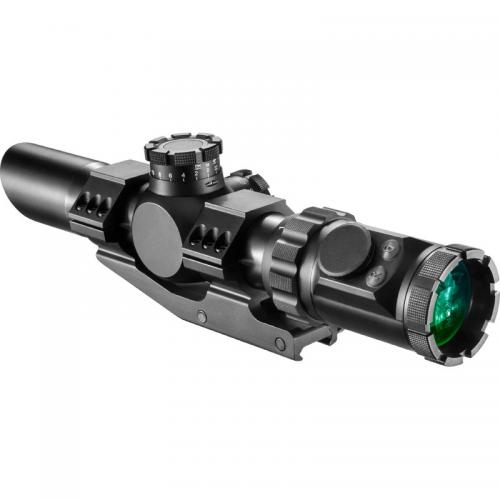 Barska Rifle Scope, 1-6x32 IR SWAT-AR 35 mm Tube Size [Black] [AC12138]