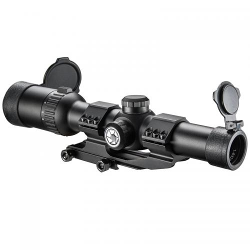 Barska Tactical Scope, 1-6x24 IR AR6 30mm Tube w/ Flip Up Cover [Black] [AC12390]