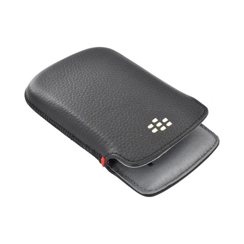 Original Blackberry Bold 9900, 9930 Leather Pocket Pouch Case, ACC-38857-301 - Black