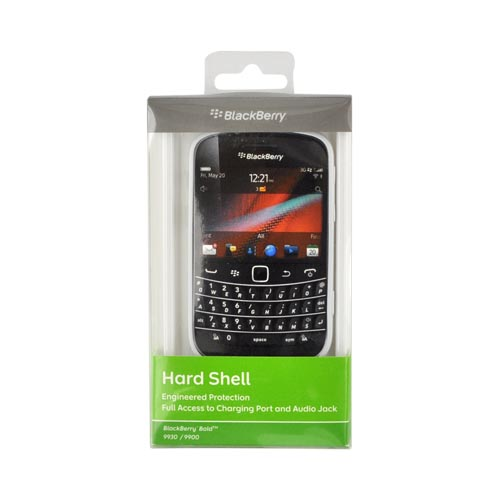 Original Blackberry Bold 9900, 9930 Hard Shell w/ Textured Back, ACC-38874-302 - White