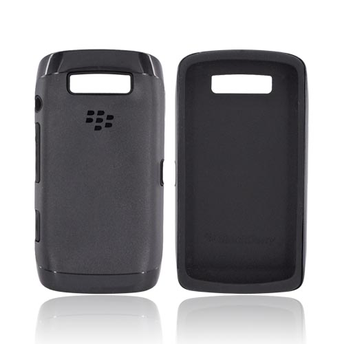Original Blackberry Torch 9860, 9850 Hard Cover Over Silicone Case, ACC-38964-301 - Black
