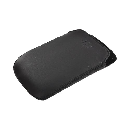 Original Blackberry Curve 9360/ Apollo Vertical Leather Pocket Pouch Case, ACC-39404-301 - Black