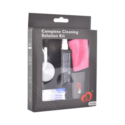 Original Kroo Complete Cleaning Solution Kit for Notebook, Digital Camera, Phone, TV, ACCKIT01