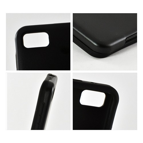 Black Aluminum Hard Case on Silicone for Blackberry Z10