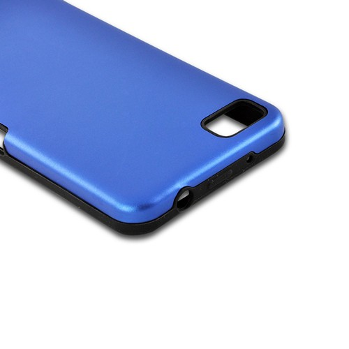 Blue Aluminum Hard Case on Silicone for Blackberry Z10