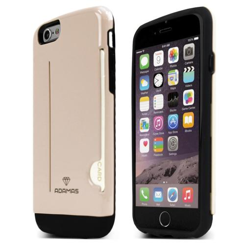 Apple iPhone 6/ 6S Case, ADAMAS [Gold] Slim & Protective Crystal Glossy Snap-on Hard Polycarbonate Plastic Case Cover
