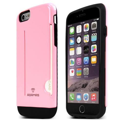 Apple iPhone 6/ 6S Case, ADAMAS [Pink] Slim & Protective Crystal Glossy Snap-on Hard Polycarbonate Plastic Case Cover