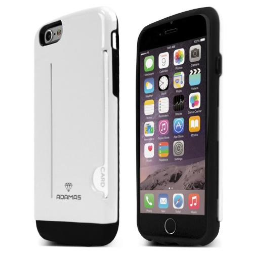 Apple iPhone 6/ 6S Case, ADAMAS [White] Slim & Protective Crystal Glossy Snap-on Hard Polycarbonate Plastic Case Cover