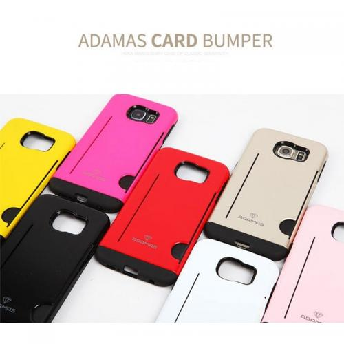 Apple iPhone 6 PLUS/6S PLUS (5.5 inch) Case, Adamas Series [Gold] Slim Card Bumper Form-Fitting Hard Plastic Protective Case Cover
