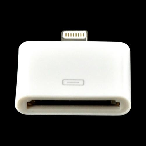 White 30 Pin to Lightning Port Adapter for iPhone 5/5S/ iPod Touch 5/ iPad Mini