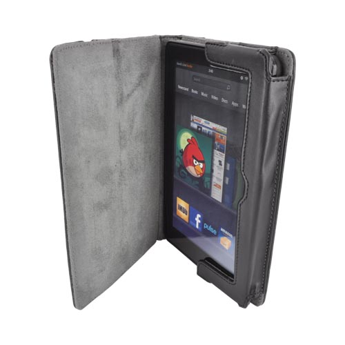 Original M-Edge Amazon Kindle Fire Incline Jacket Leather Case Stand, AF1-IN1-MF-B - Black