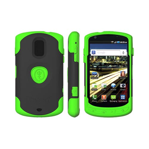 Original Trident Aegis Samsung Galaxy S Aviator Anti-Skid Hard Cover Over Silicone Case w/ Screen Protector, AG-AVIATOR-TG - Lime Green/ Black