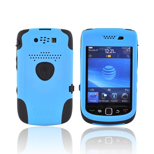 Original Trident Aegis Blackberry Torch 9800 Hard Cover Over Silicone Case w/ Screen Protector, AG-BB-9800-BL - Blue/ Black