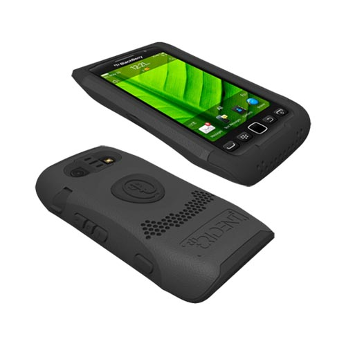 Original Trident Aegis Blackberry Torch 9860, 9850 Hard Cover Over Silicone Case, AG-BB-9850-BK - Black