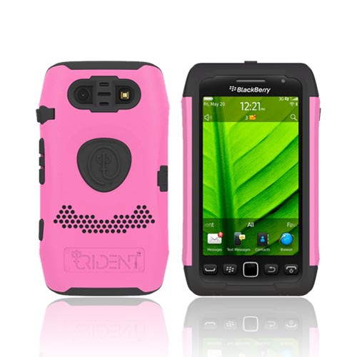 Original Trident Aegis Blackberry Torch 9860, 9850 Hard Cover Over Silicone Case, AG-BB-9850-PK - Pink/ Black