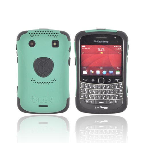 Original Trident Aegis Blackberry Bold 9900, 9930 Hard Cover over Silicone Case w/ Screen Protector, AG-BB-9930-BG - Green/ Black