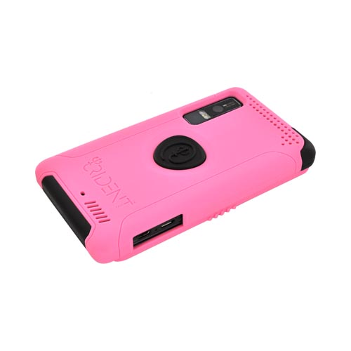 Original Trident Aegis Motorola Droid 3 Anti-Skid Hard Cover on Silicone Case w/ Screen Protector, AG-DR3-PK - Pink/ Black