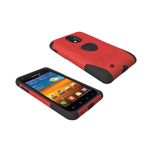 Original Trident Aegis Samsung Epic 4G Touch Hard Cover Over Silicone Case w/ Screen Protector, AG-EPIC-RD - Red/ Black