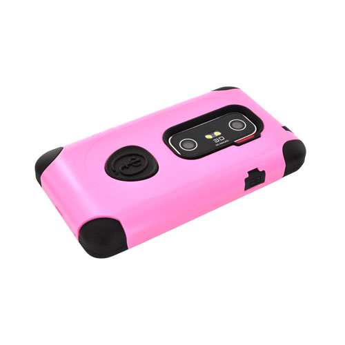 Original Trident Aegis HTC EVO 3D Hard Cover Over Silicone w/ Screen Protector, AG-EVO-3D-PK - Pink/ Black