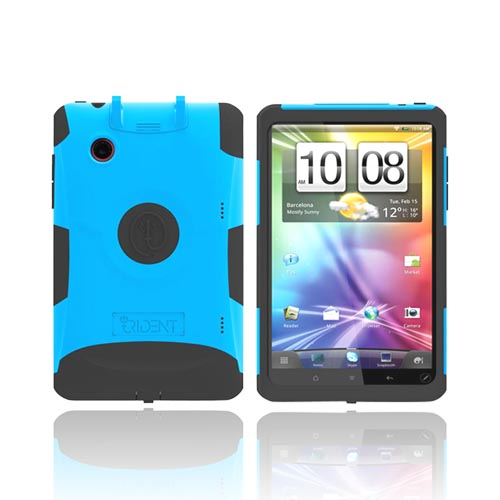 Original Trident Aegis HTC EVO View 4G/ HTC Flyer Hard Cover on Silicone Case w/ Screen Protector & Detachable Stylus Mount, AG-FLYER-BL - Blue/ Black