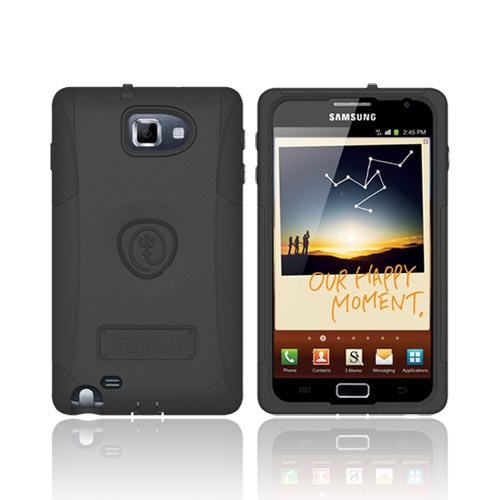 Original Trident Samsung Galaxy Note Aegis Hard Cover Over Silicone Case w/ Screen Protector, AG-GNOTE-BK - Black