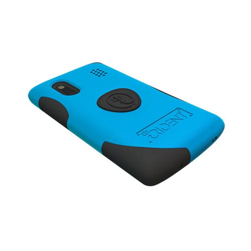 Original Trident HTC EVO Design 4G Aegis Hard Case on Silicone w/ Screen Protector, AG-HERO-BL - Blue/ Black