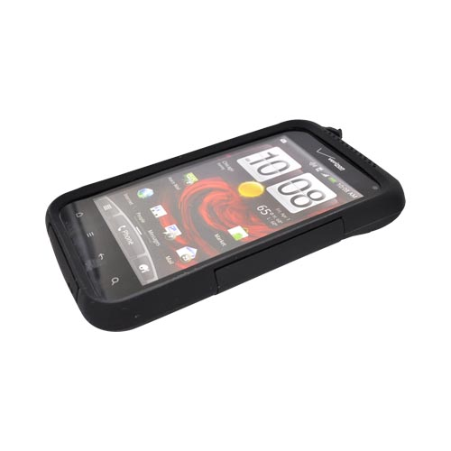 Original Trident Aegis HTC Droid Incredible 2 Hard Cover Over Silicone Case w/ Screen Protector, AG-INC-S-BK - Black