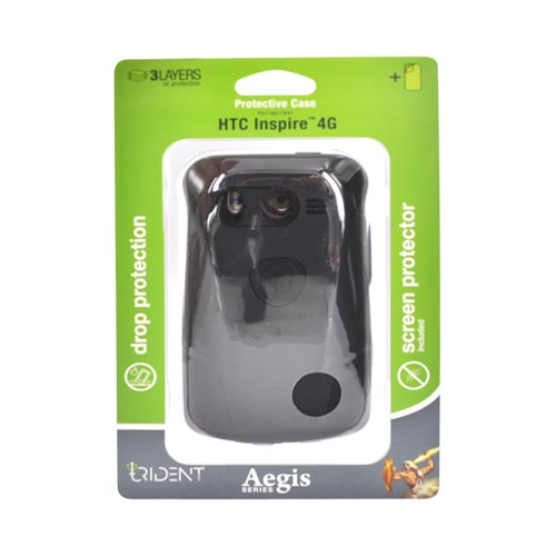 Original Trident Aegis HTC Inspire 4G Hard Cover Over AG-INSP-4-BK - Black