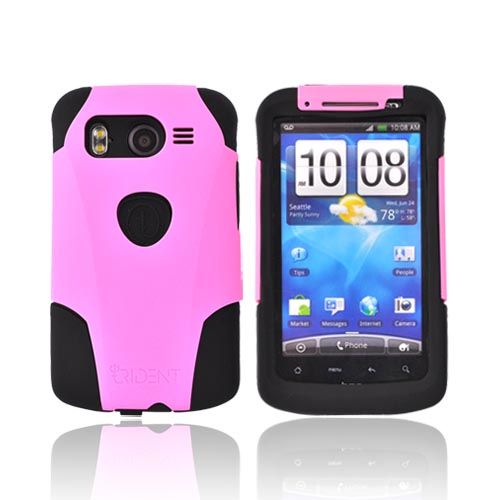 Original Trident Aegis HTC Inspire 4G Hard Cover Over Silicone Case w/ Screen Protector, AG-INSP-4-PK - Pink/Black