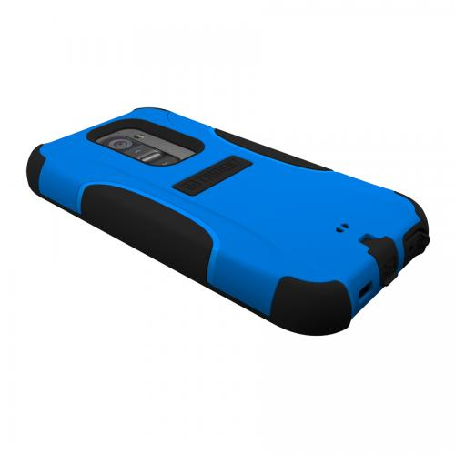 Trident Blue/ Black Aegis Series Hard Cover on Silicone Case w/ Screen Protector for LG G2 (All Carriers) - AG-LG-G2-BLU
