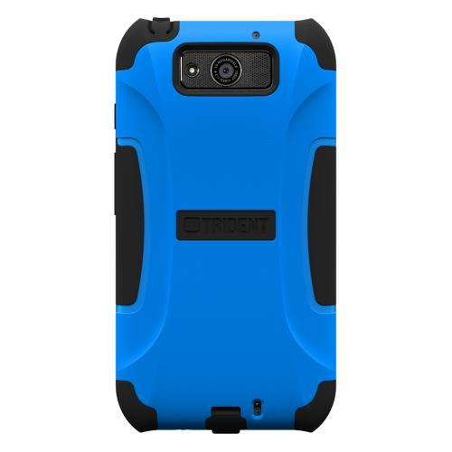 Trident Blue/ Black Aegis Series Hard Cover on Silicone Case w/ Screen Protector for Motorola Droid Ultra - AG-MOT-ULTRA-BLU