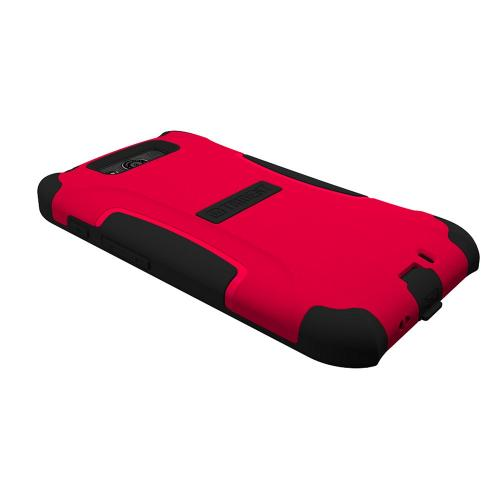 Trident Red/ Black Aegis Series Hard Cover on Silicone Case w/ Screen Protector for Motorola Droid Ultra - AG-MOT-ULTRA-RED
