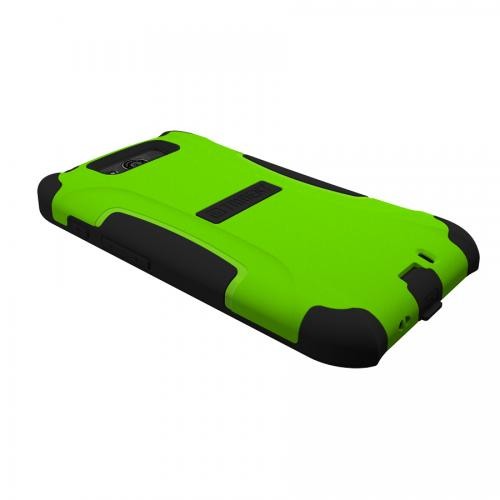 Trident Lime Green/ Black Aegis Series Hard Cover on Silicone Case w/ Screen Protector for Motorola Droid Ultra - AG-MOT-ULTRA-TG