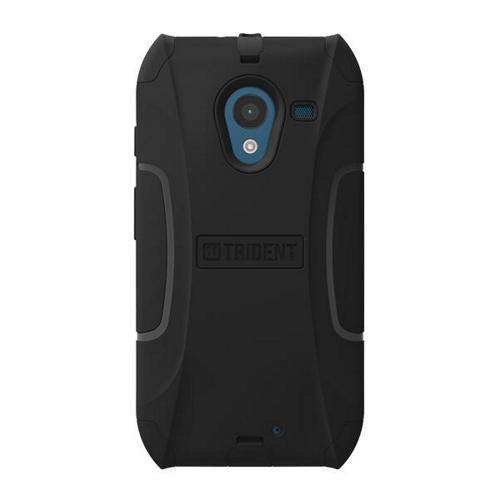 Trident Black Aegis Series Hard Cover on Silicone Skin Case w/ Screen Protector for Motorola Moto X (2013 1st Gen) - AG-MOT-X-BK