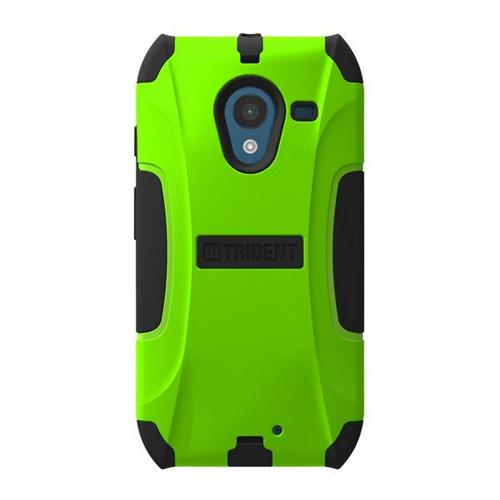 Trident Lime Green/ Black Aegis Series Hard Cover on Silicone Skin Case w/ Screen Protector for Motorola Moto X - AG-MOT-X-TG
