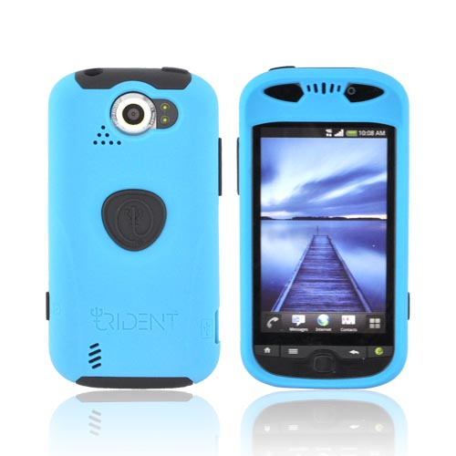 Original Trident Aegis HTC Mytouch 4G Slide Anti-Skid Hard Cover Over Silicone Case w/ Screen Protector & 3.5mm Audio Jack Extender, AG-MTS-BL - Blue/ Black