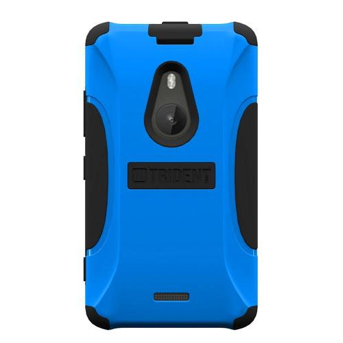 Trident Blue/ Black Aegis Series Hard Cover on Silicone Skin Case w/ Screen Protector for Nokia Lumia 925 - AG-NOK-LUMIA925-BLU