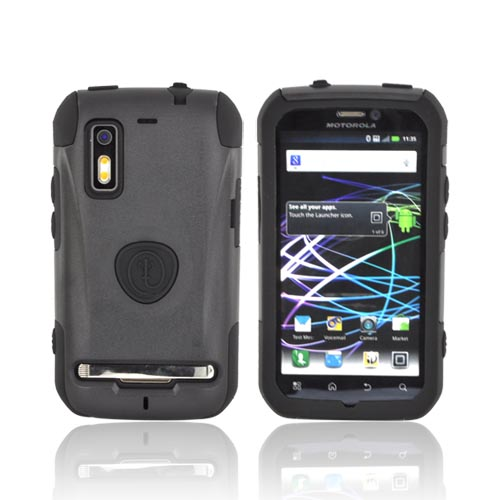 Original Trident Aegis Motorola Photon 4G Hard Cover Over Silicone Case, AG-PHTN-BK - Black