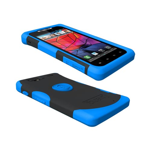 Original Trident Aegis Motorola Droid RAZR Hard Cover Over Silicone Case w/ Screen Protector, AG-RAZR-BL - Blue/ Black