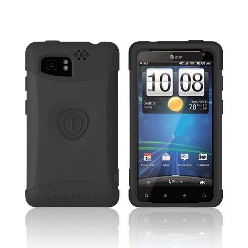 Original Trident Aegis HTC Vivid Hard Cover on Silicone Case w/ Screen Protector, AG-RDER-BK - Black