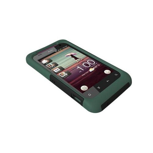 Original Trident Aegis HTC Rhyme Hard Cover Over Silicone Case w/ Screen Protector, AG-RHYME-BG - Green/ Black