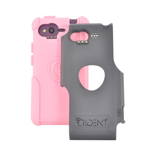 Original Trident Aegis HTC Rhyme Hard Cover Over Silicone Case w/ Screen Protector, AG-RHYME-PK - Pink/ Black